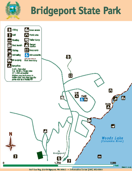 Bridgeport State Park Map