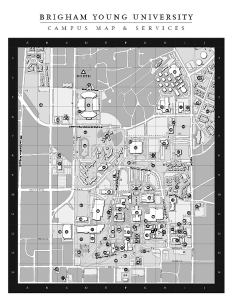 Brigham Young University Map - Brigham Young University U2022 Mappery