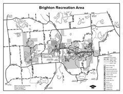 Brighton Recreation Area, Michigan Site Map
