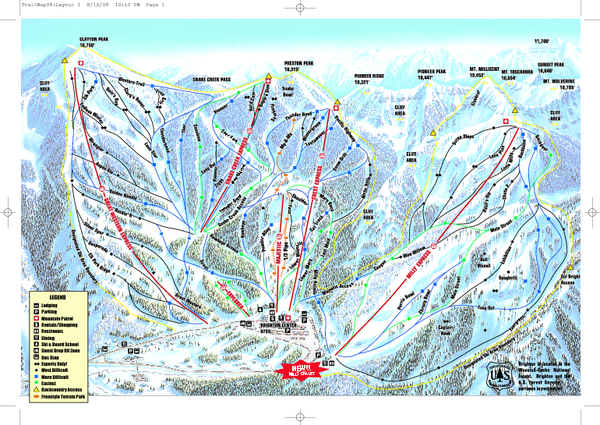 Brighton Ski Resort Ski Trail Map Alta Utah United States Mappery - Brighton utah us map