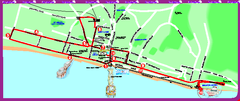 Brighton bus tour map