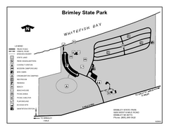 Brimley State Park, Michigan Site Map