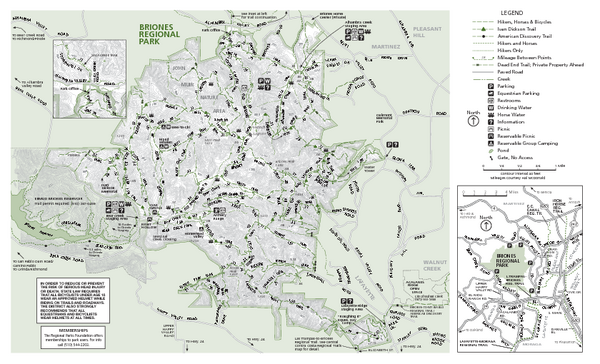 Briones Regional Park Trail Map