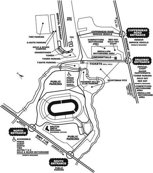 Bristol Dragway Map Bristol Tn Us Mappery