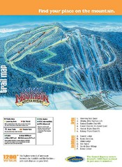 Bristol Mountain Ski Resort Ski Trail Map