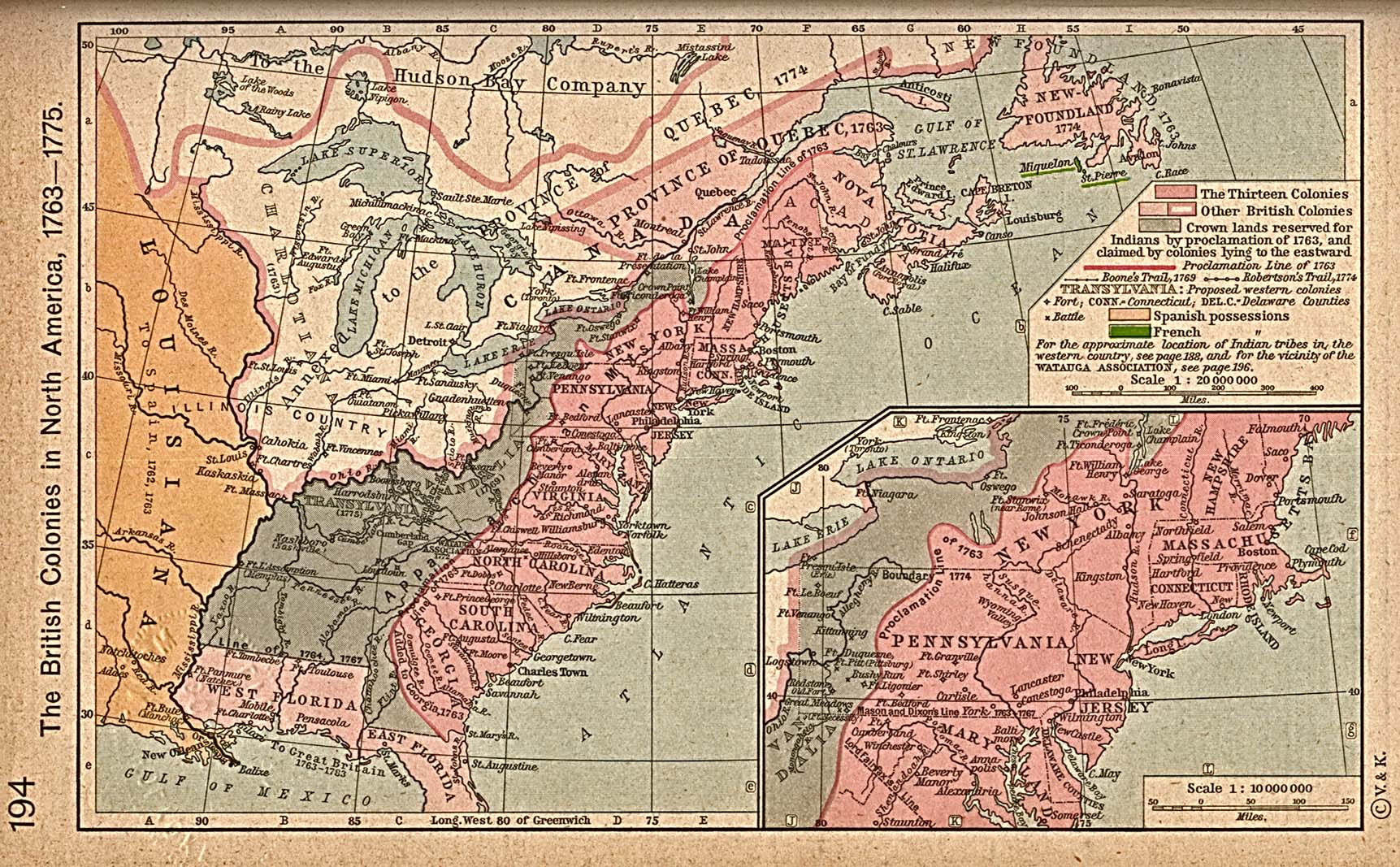 British Colonies  Historical Map United States  Mappery - Us map 1763
