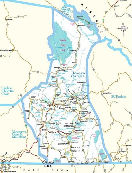 British Columbia Canada Tourist Map - British Columbia