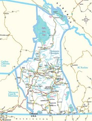 British Columbia, Canada Tourist Map