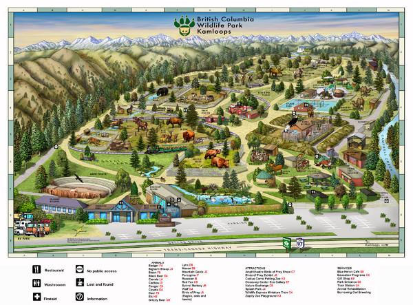 British Columbia Wildlife Park Visitor Map 9077 Dallas Drive