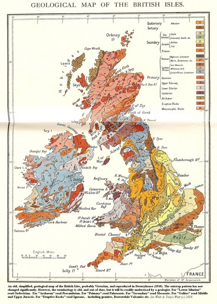 British Isles Geological Map