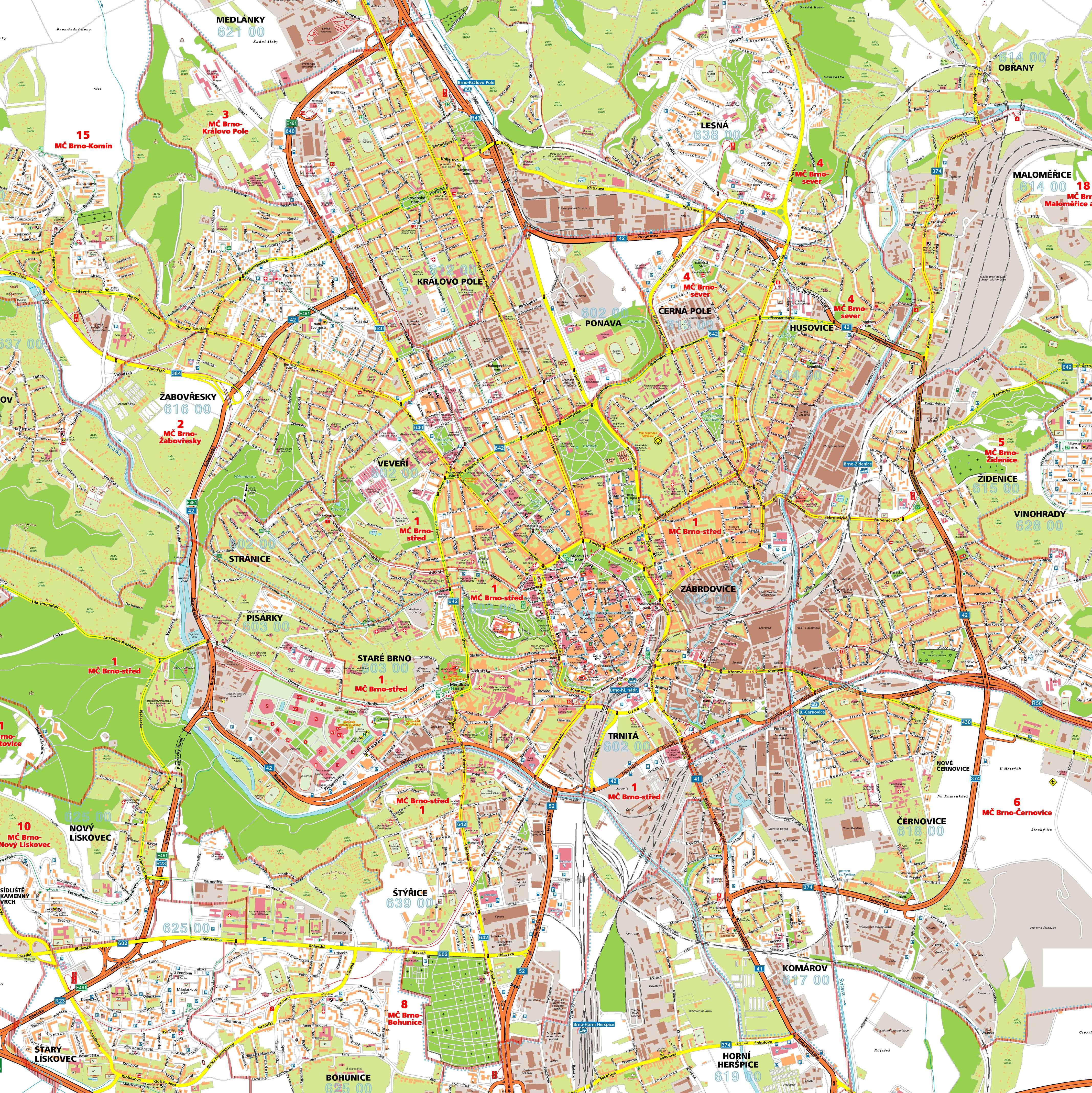 Brno Czech Republic  city pictures gallery : Brno Tourist Map Brno Czech Republic • mappery