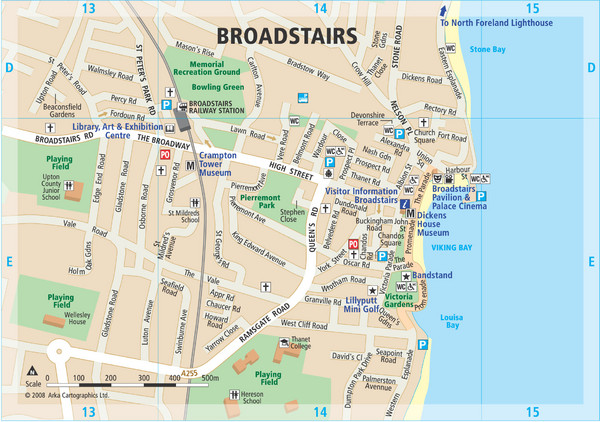 Broadstairs Tourist Map