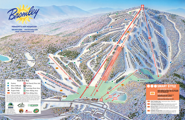 Bromley Mountain Ski Trail Map