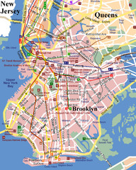 Brooklyn, Attractions Map