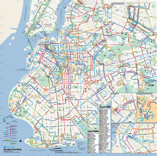 Brooklyn New York Bus Map Brooklyn New York mappery