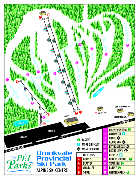 Brookvale Provincial Park Ski Trail Map