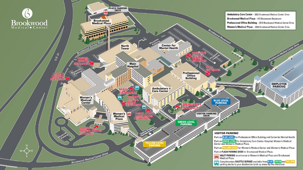 Brookwood Medical Center Map Brookwood Medical Center Birmingham