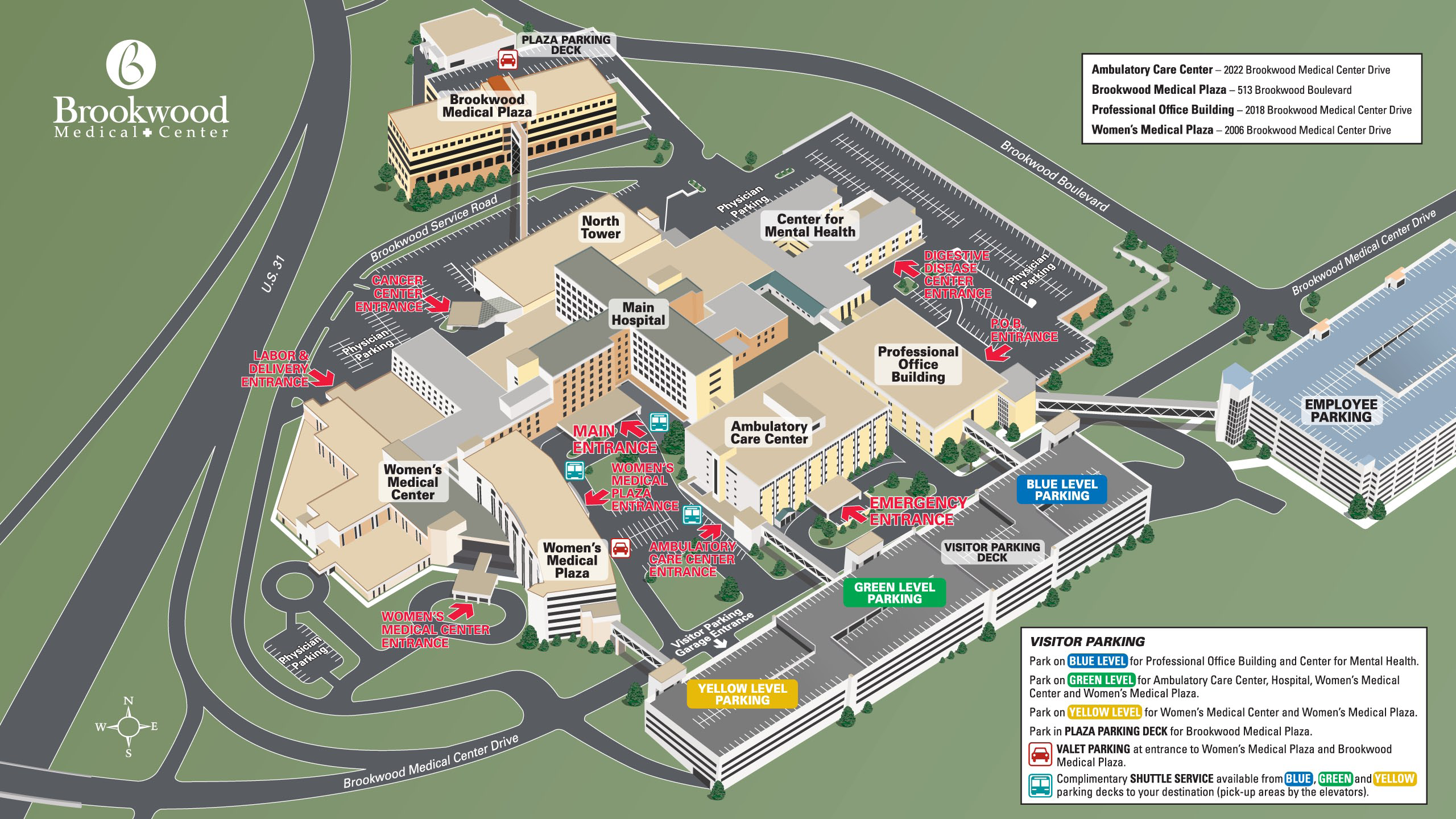 Uab Hospital Map | compressportnederland