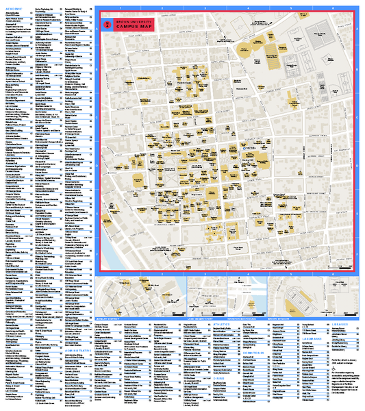 Princeton University Campus Map Pdf Brown University Campus Map