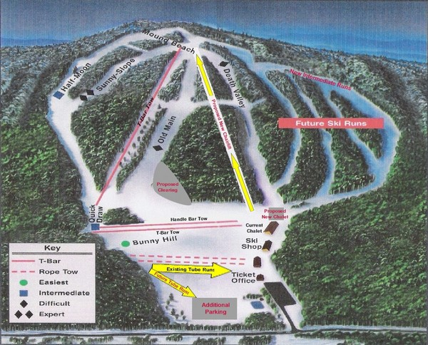 Bruce Mound Ski Area Ski Trail Map N791 Bruce Mound Ave