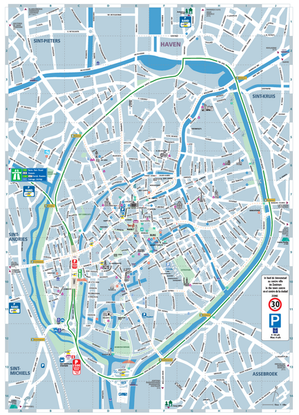 Bruges France Map.Brugge Tourist Map Brugge Belgium Mappery
