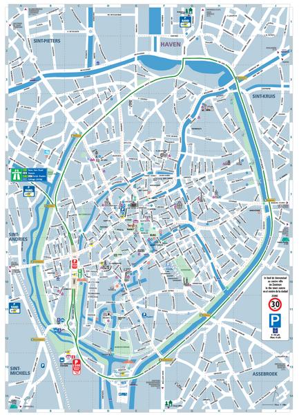Brugge Tourist Map Brugge Belgium mappery