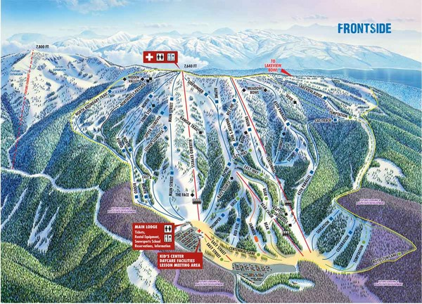 Brundage Mountain Resort Frontside Ski Trail Map