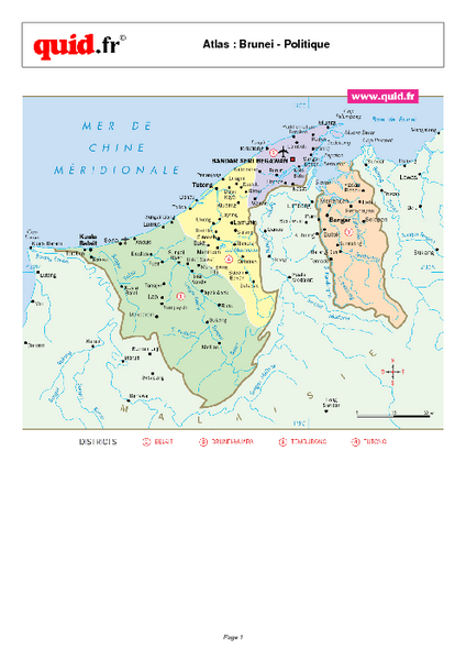 Brunei Regional Map