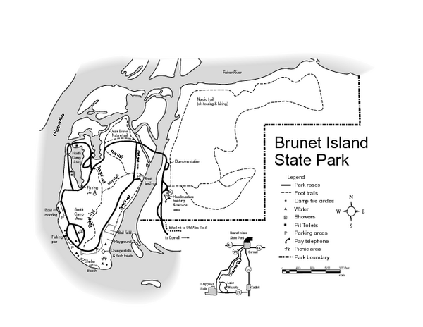 Brunet Island State Park Map