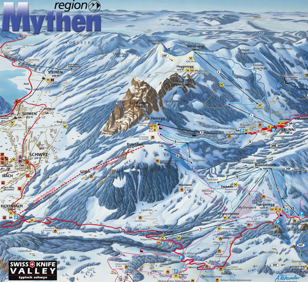 Brunni-Alpthal Ski Trail Map