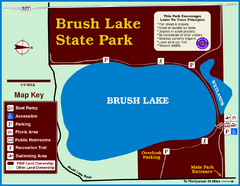 Brush Lake State Park Map