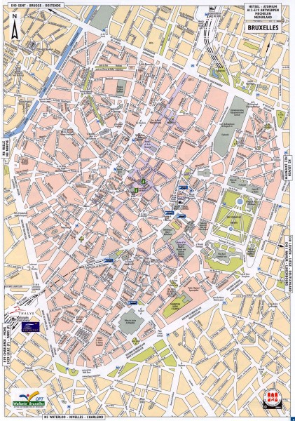Brussels Street Map - Brussels Belgium • mappery