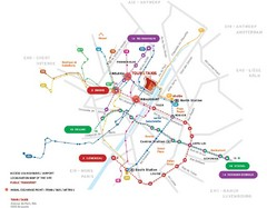 Brussels Transit Map