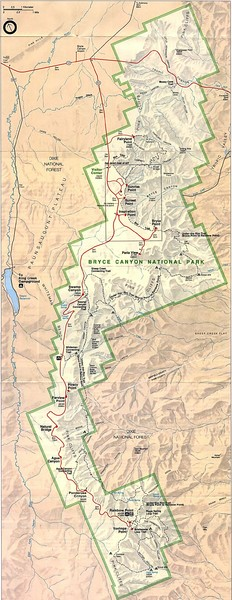 Bryce Canyon National Park Map