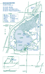 Buck Creek State Park map