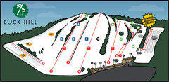 Buck Hill Ski Area Ski Trail Map