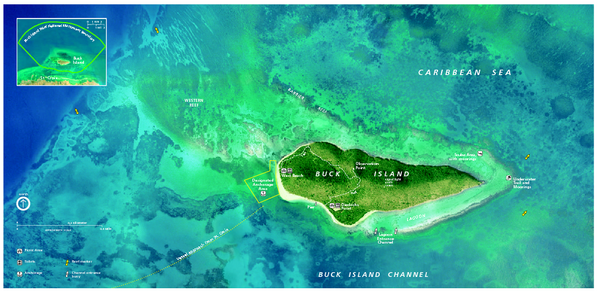 fullsize buck island reef national monument map