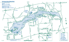 Buckeye Lake State Park map