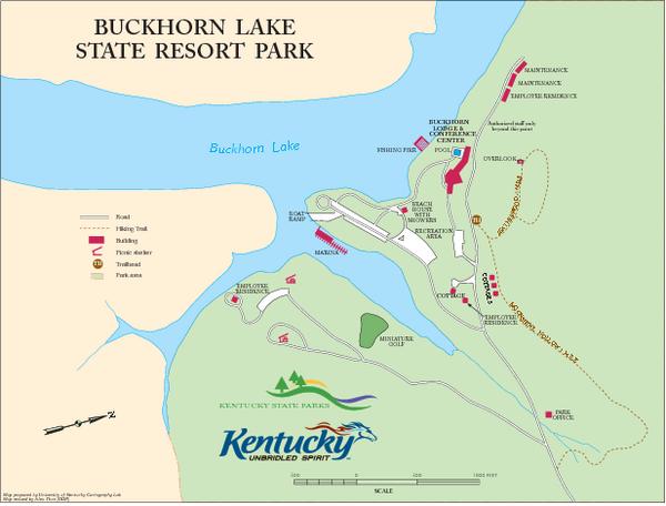 Buckhorn Lake State Resort Park Map Ky \u2022 Mappery: Buckhorn Lake State Resort At Slyspyder.com