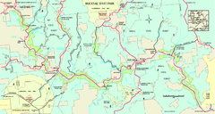 Bucktail State Park Natural Area map