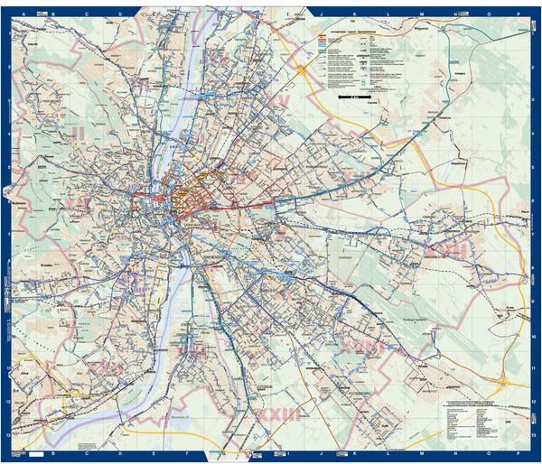 Budapest Public Transit Map Budapest Hu Mappery