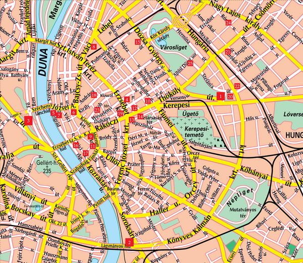 Budapest Street Map Budapest Hungary Mappery