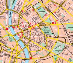 Budapest Hotel Map Budapest Hungary mappery