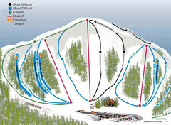 Buena Vista Ski Area Frontside Ski Trail Map