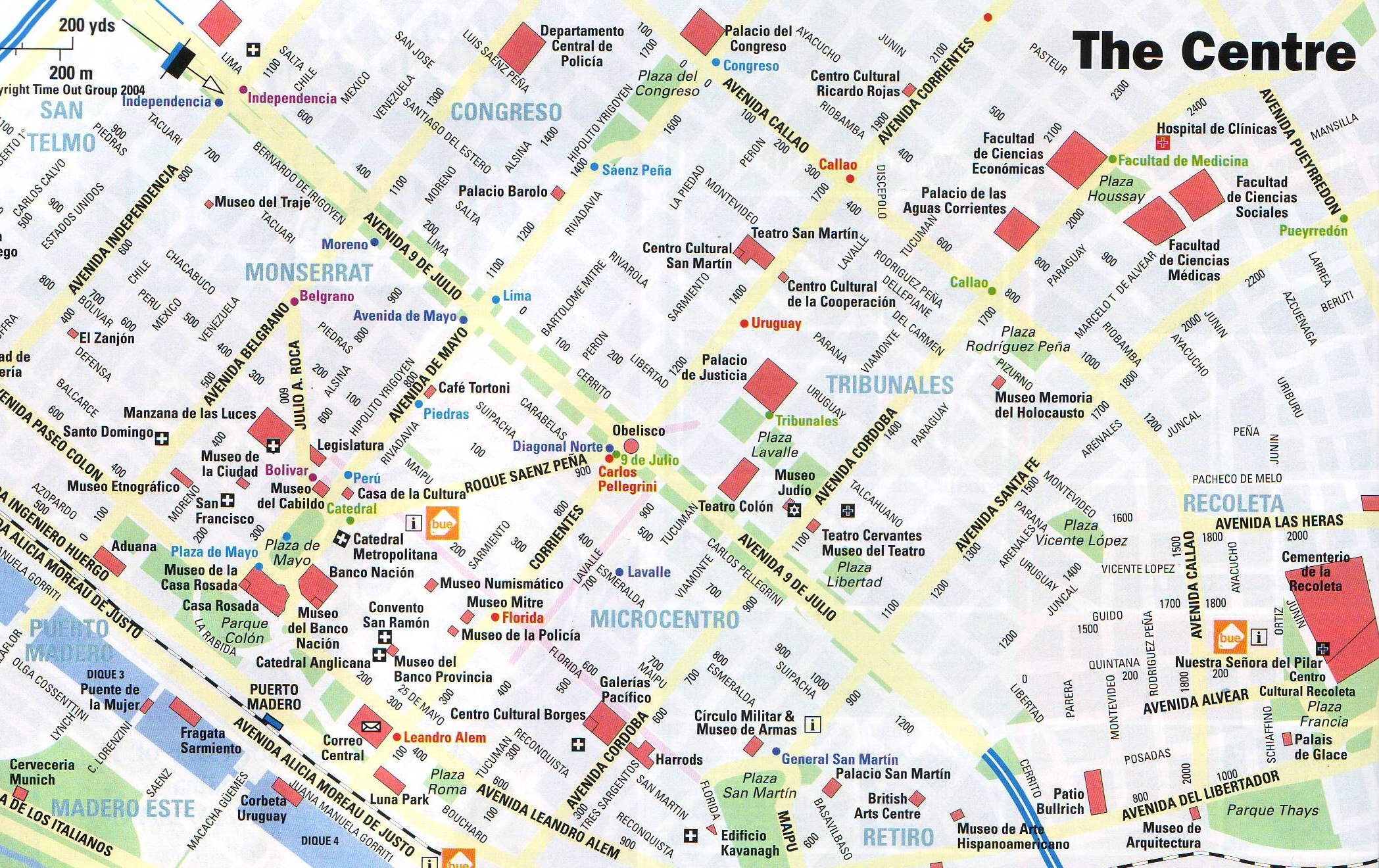 Buenos Aires Center Map - Buenos Aires Argentina • mappery Buenos Aires Map