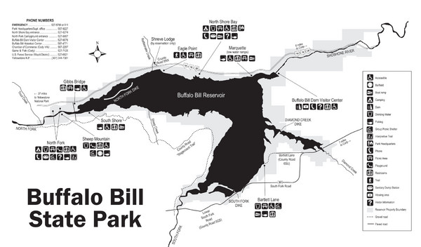 Buffalo Bill State Park Map