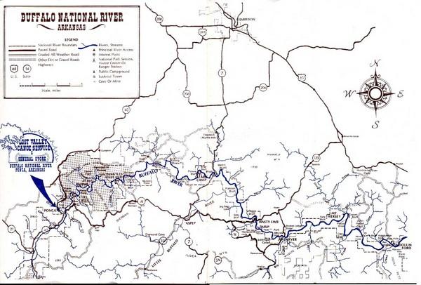 Buffalo National River Guide Map - Harrison Arkansas • mappery