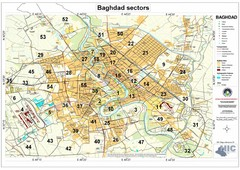 Built Up Areas and Sectors in Baghdad Map