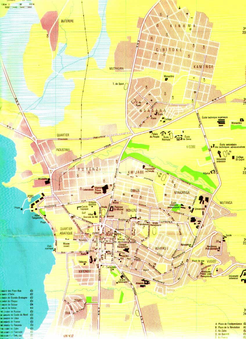 Bujumbura City Map mappery