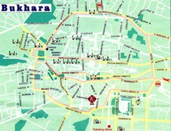 Bukhara City Map